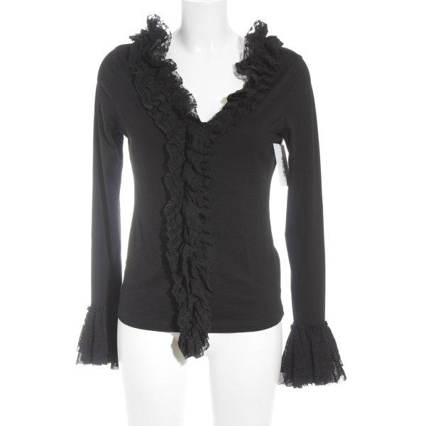 Betty Barclay Rüschen-Bluse schwarz Elegant