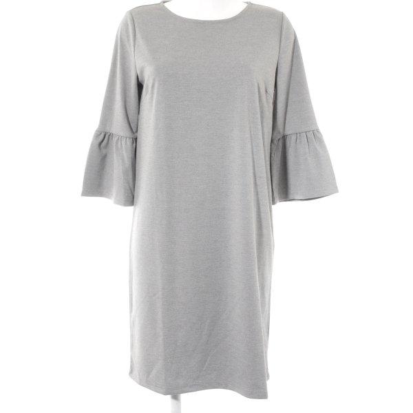 Betty & Co Vestido de manga larga gris claro estilo sencillo