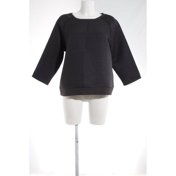 Betty & Co Jersey de cuello redondo gris oscuro Patrón de tejido look casual