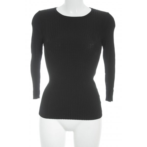 Betty & Co Jersey de cuello redondo negro look casual