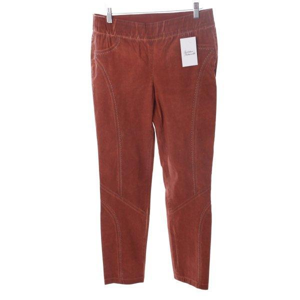 Biba Pantalone marrone-rosso aspetto di seconda mano