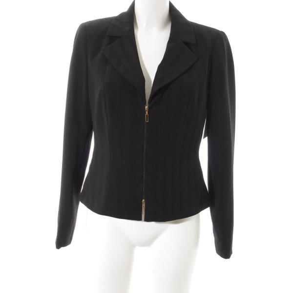 Biba Short Blazer black striped pattern classic style
