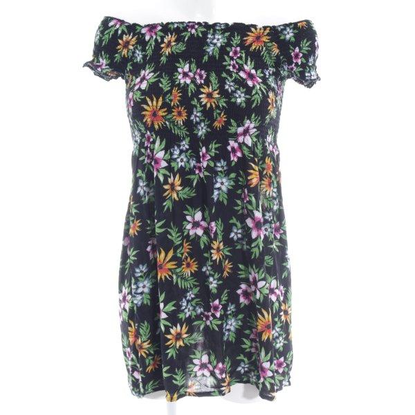 Bik Bok schulterfreies Kleid Blumenmuster Boho-Look