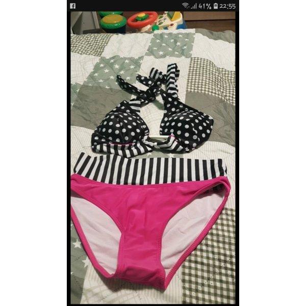 Bikini nero-rosa