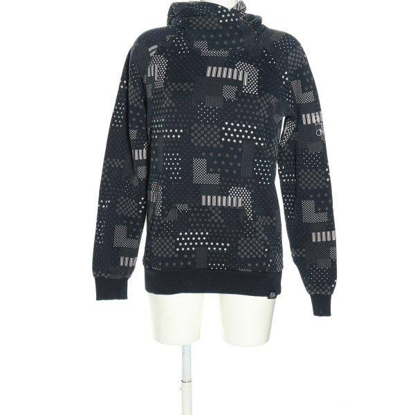 Billabong Kapuzensweatshirt schwarz-hellgrau grafisches Muster Casual-Look