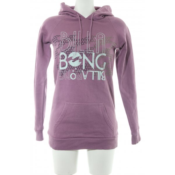 Billabong Kapuzensweatshirt lila Schriftzug gedruckt Casual-Look