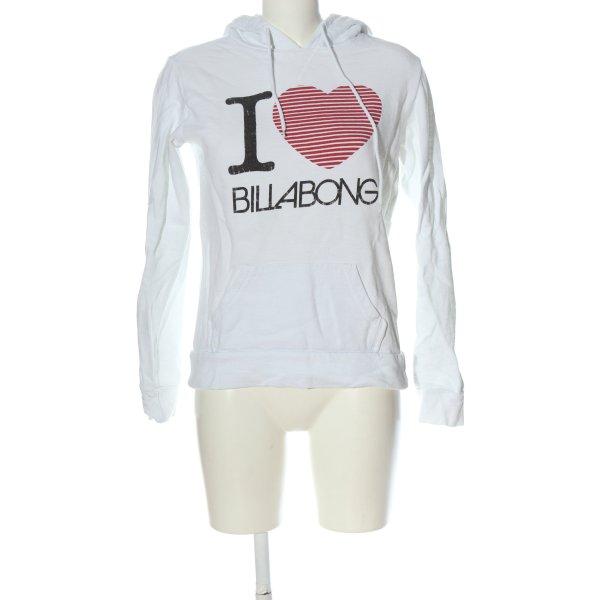 Billabong Kapuzensweatshirt Motivdruck Casual-Look