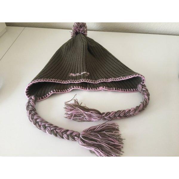 Billabong Knitted Hat pink-olive green