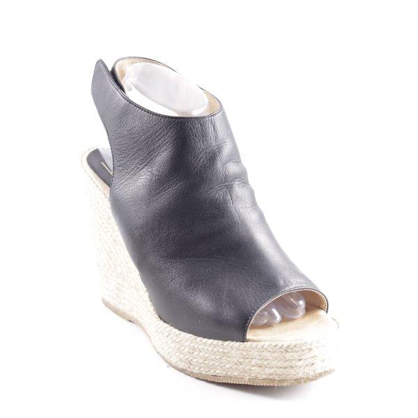 Billi Bi Wedges Sandaletten schwarz-camel Street-Fashion-Look