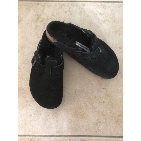 Birkenstock House Shoes black suede