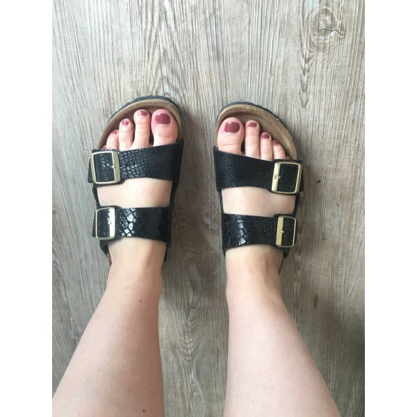 Birkenstock Sandals black leather