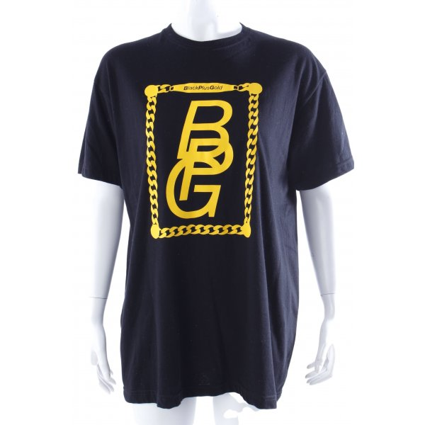 BlackPlusGold T-Shirt Logo-Print