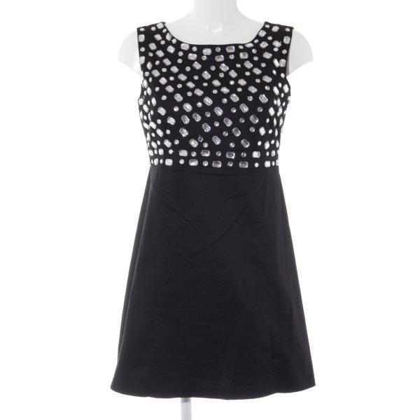 Blanco Minikleid schwarz-silberfarben Street-Fashion-Look