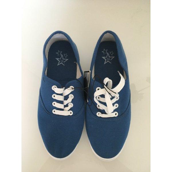 Blaue Damen Stoff Sneaker Turnschuhe Gr. 38 NEU