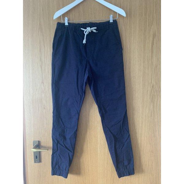 blaue High-Waist Hose von H&M