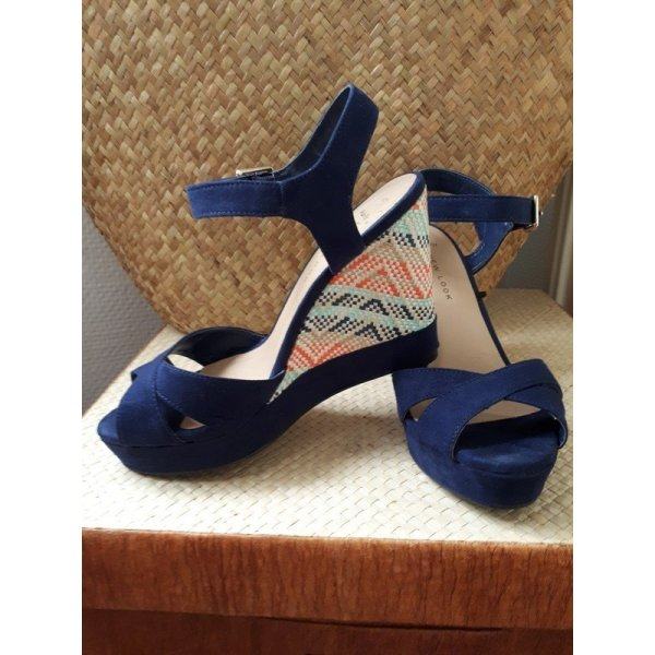 New Look Platform High-Heeled Sandal blue-turquoise