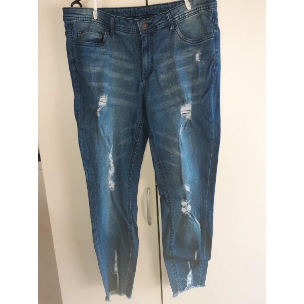 Blaue Ripped Jeans Stretch Gr.44-46