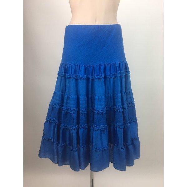 Blauer Seidenrock von Ralph Lauren