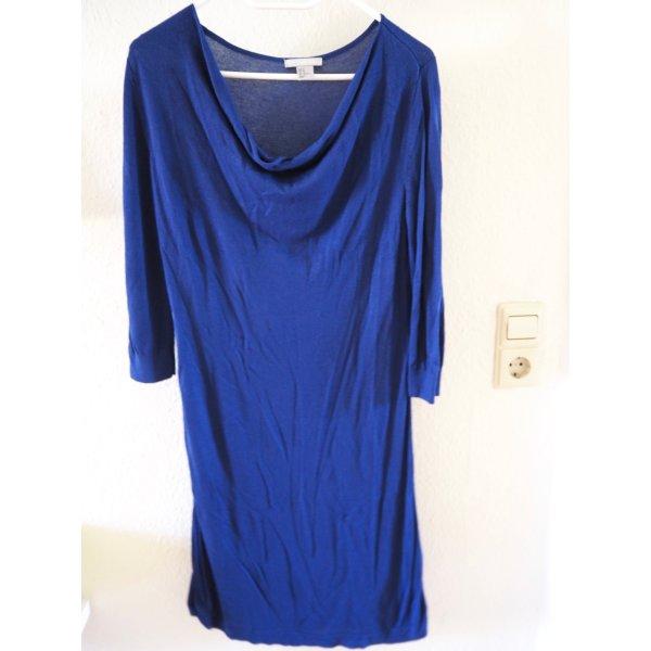 Blaues Strickkleid, H&M, ohne Gürtel, Gr. M