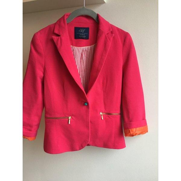 Blazer Color blocking Orange pink Türkis