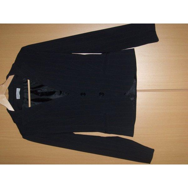Blazer in Schwarz mit Nadelstreifen