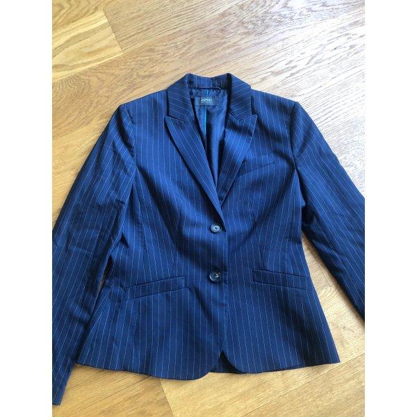 Blazer mit Nadelstreifen dunkelblau von Esprit Größe 36