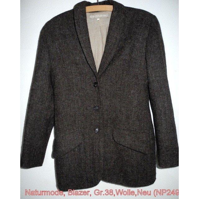 Blazer Wolle / Leinen Naturmode Koppenborg, Gr. 38