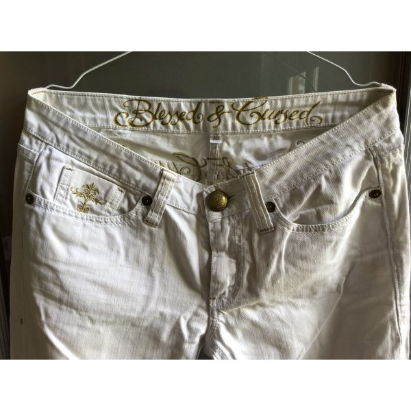 Blessed & Cursed Jeans bianco-bianco sporco Cotone