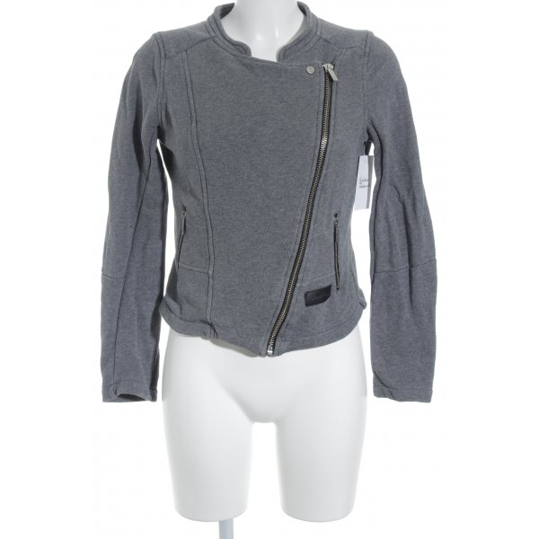 Blessed & Cursed Giacca fitness grigio stile casual