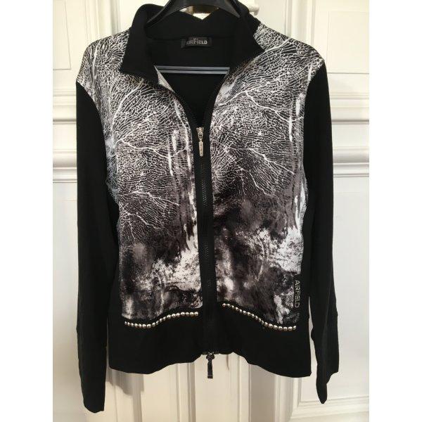 Blouson Jacke AIRFIELD blazer sweater kuschelweich mit Nieten Black white