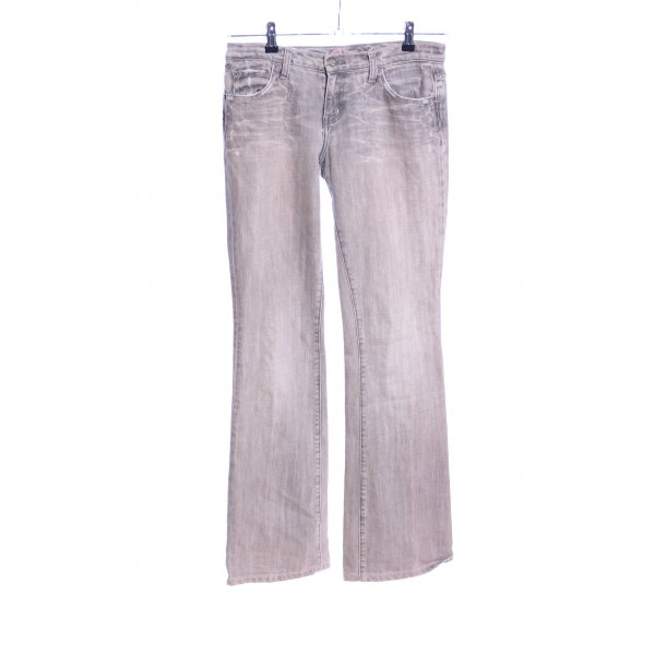 Blue Cult Jeansschlaghose pink-hellgrau Casual-Look
