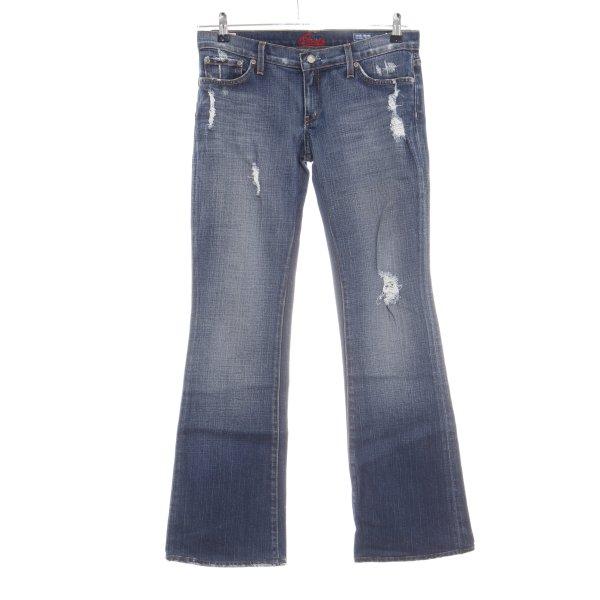Blue Cult Jeansschlaghose blau Casual-Look