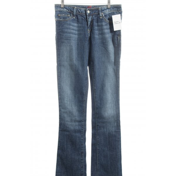 Blue Cult Straight-Leg Jeans dunkelblau Destroy-Optik