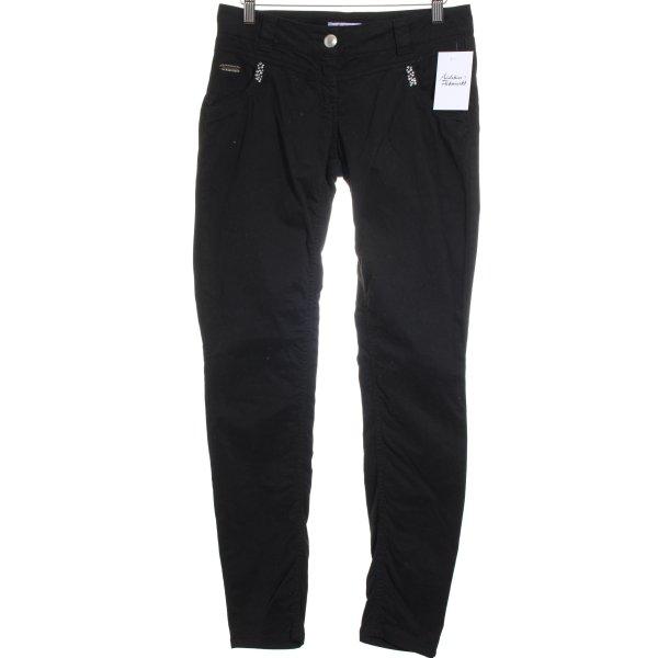 Blugirl Folies Stretch broek zwart casual uitstraling