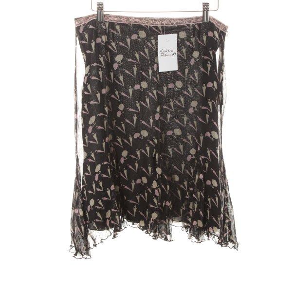 Blugirl Silk Skirt allover print romantic style