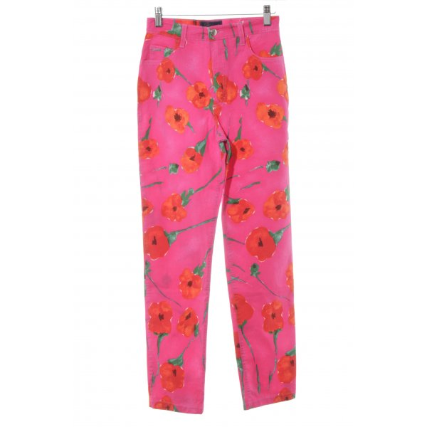 Blumarine Stoffhose florales Muster Street-Fashion-Look