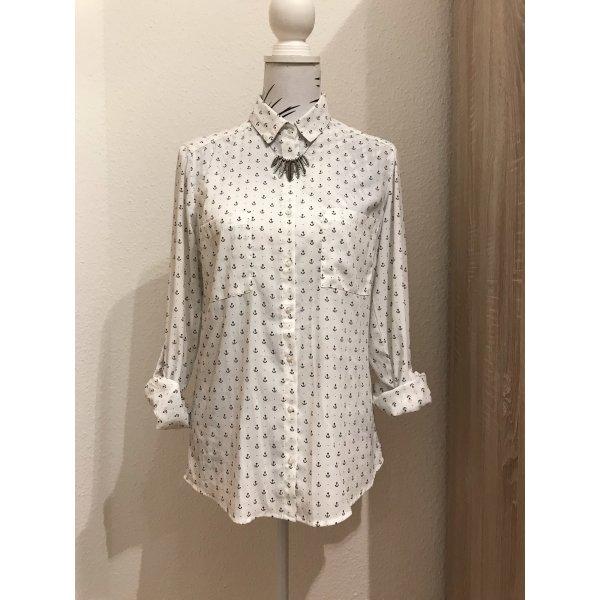 Blusa de manga larga blanco puro