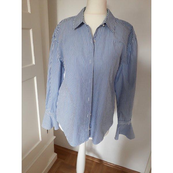 Bluse blau-weiß gestreift Mango Gr. S
