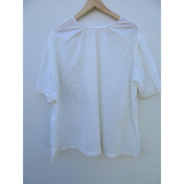 Bluse Damen weiß/creme Gr. L/XL oversize Vintage Retro