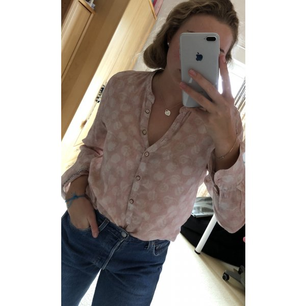Bluse mit Musterung