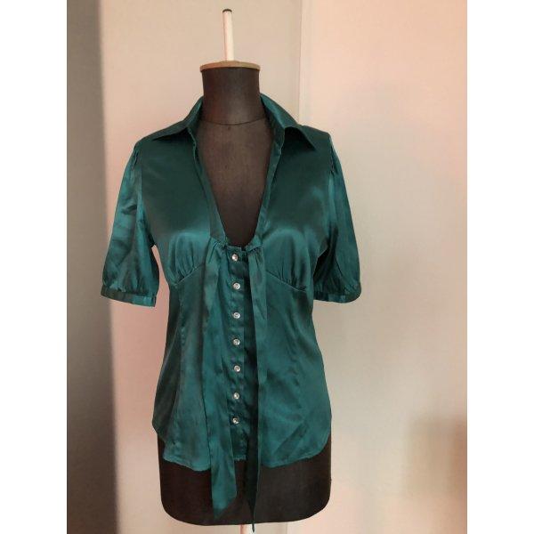 Bluse mit Schleife Gr 36 38 S grün