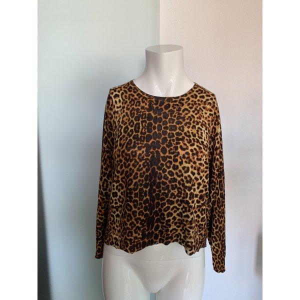 Bluse Pullover Oversize Look Gr 38 40 M von Zara Leoparden Muster