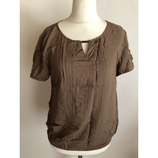 Bluse Shirt Kurzarm braun Gr. 40 S.Oliver
