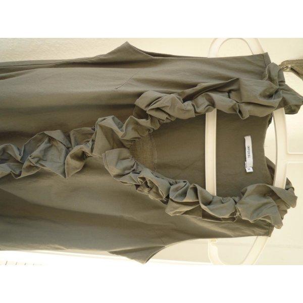 Bluse Tunika Gr. M, khaki, außergewöhnlich
