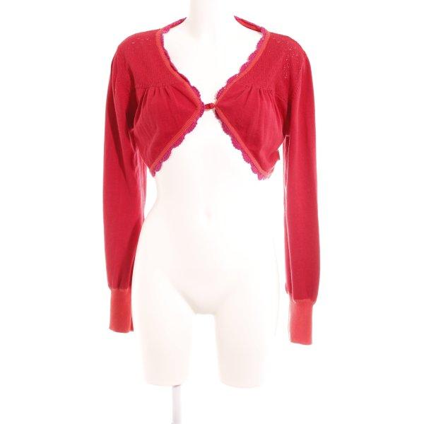 Blutsgeschwister Strick Cardigan rot-pink extravaganter Stil