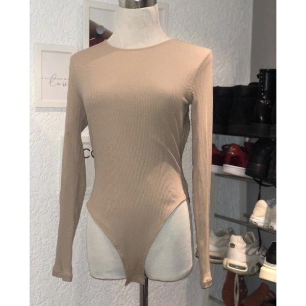 H&M Blusa sin espalda beige