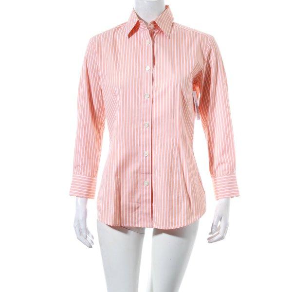 Bogner Hemd-Bluse hellorange-weiß Streifenmuster Business-Look
