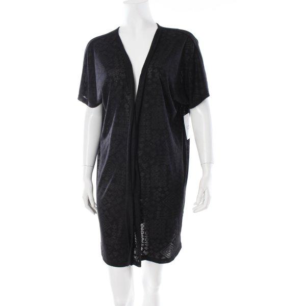 Bon'a Parte Shirtjacke schwarz Ornamentenmuster Transparenz-Optik