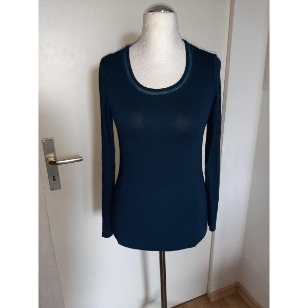 Bonita Lang shirt petrol-cadet blauw