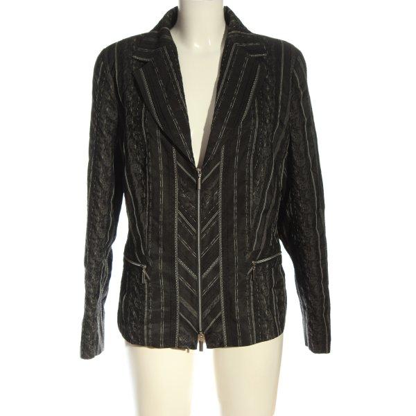 Bonita Blusenjacke schwarz Streifenmuster klassischer Stil